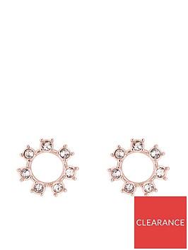ted-baker-cielanbspcrystal-clockwork-stud-earrings--nbsprose-goldcrystal