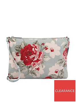 cath-kidston-new-rose-bloom-clutch-bag-with-strap-soft-blue