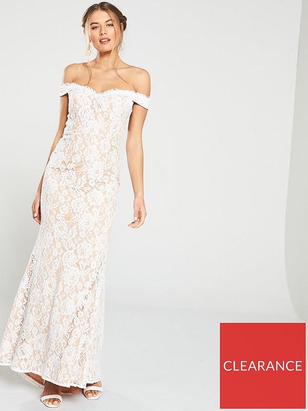 Vanessa Bardot Lace Maxi Dress