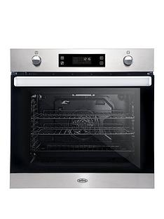 belling-bel-bi602mfpy-60cm-built-in-equiflow-single-electric-oven-with-pyrolytic-cleaning-stainless-steel