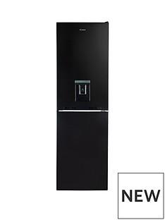 Candy CVS 1745BWDK 55cm Wide Fridge Freezer with Water Dispenser - Black