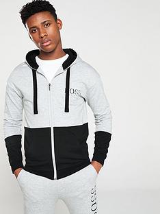 boss-bodywear-authentic-hooded-lounge-top-grey