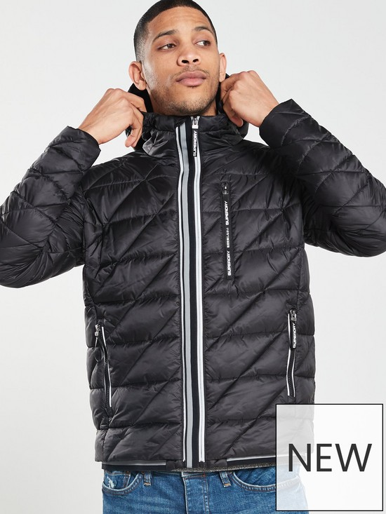 7707af35b1fd1 ... Superdry Diagonal Quilt Fuji Jacket - Black. View larger