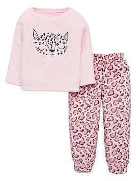 v-by-very-girls-leopard-fleece-lounge-set--nbspcoral