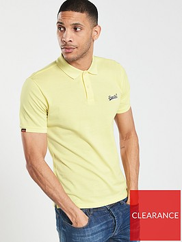 superdry-classic-micro-pique-polo-yellow