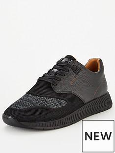 boss-titanium-leather-knit-trainer