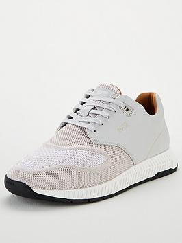 boss-titanium-leather-knit-trainer-light-grey