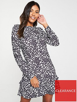 v-by-very-frill-yoke-jersey-printed-dress-animal-print