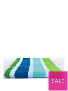 downland-teal-stripe-beach-towel