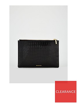 whistles-small-leather-croc-clutch-bag-black