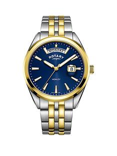 rotary-rotary-henley-blue-and-gold-detail-daydate-dial-two-tone-stainless-steel-bracelet-mens-watch