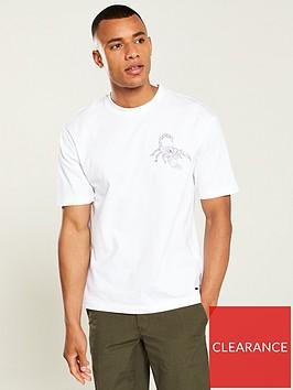 boss-scorpion-print-t-shirt-white