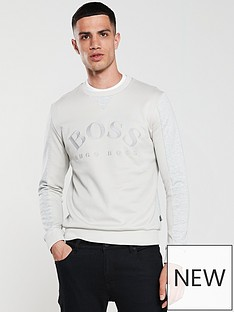 boss-salbo-crew-neck-sweatshirt-grey
