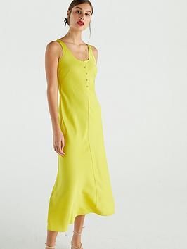 whistles-pippa-satin-slip-dress-yellow