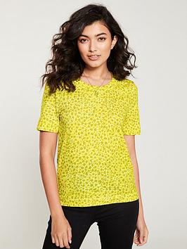 whistles-clouded-leopard-print-rosa-tee-yellowmulti