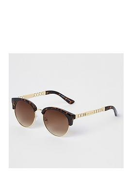 river-island-river-island-tortoiseshell-bevelled-edge-sunglasses-brown