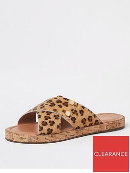 river-island-river-island-suede-cross-strap-mule-leopard