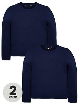 v-by-very-unisex-2-pack-crew-neck-sweat-tops-navy