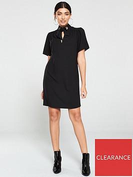 v-by-very-eyelet-tunic-dress-black