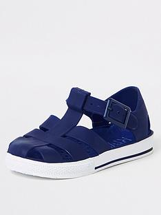 d3288945b424dc River Island Mini Mini Boys Jelly Sandals - Navy