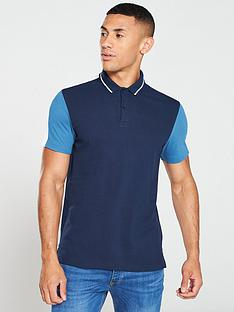 v-by-very-colournbspblock-polo-shirt-navy