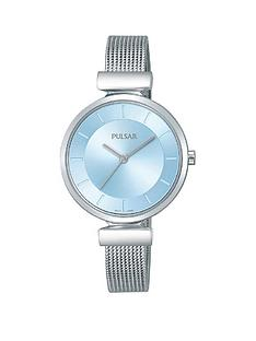 pulsar-pulsar-attitude-blue-dial-stainless-steel-mesh-strap-ladies-watch