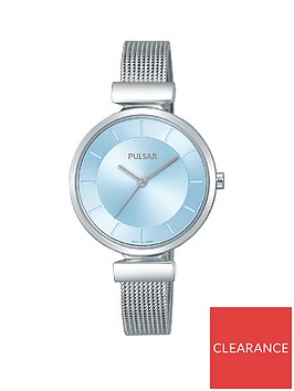 pulsar-pulsar-attitude-blue-dial-stainless-steel-mesh-strap-ladies-watch