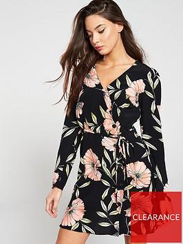 river-island-river-island-floral-wrap-tea-dress-black