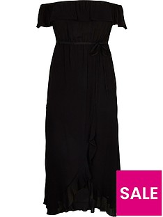 ri-plus-bardot-maxi-dress-black