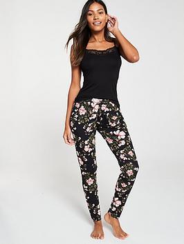 v-by-very-mix-amp-match-floral-printed-pyjama-pants-ndash-black-floral
