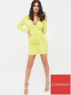 lavish-alice-pleated-sequin-mini-dress-acid-yellow