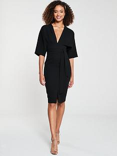 v-by-very-milana-kimono-sleeve-pencil-dress-black