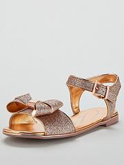 9f5e8af44 Baker by Ted Baker Glitter Bow Sandals - Gold