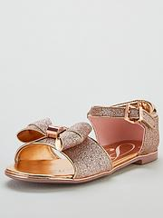 924c7ce29 Baker by Ted Baker Toddler Glitter Bow Sandals - Gold