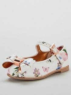 baker-by-ted-baker-toddler-girls-harmony-print-bow-pumps-multi