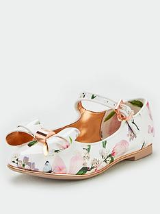 e2e7fae41 Baker by Ted Baker Girls Harmony Print Bow Pump