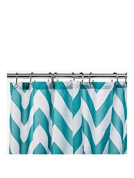 croydex-chevron-textile-shower-curtain--nbspaqua