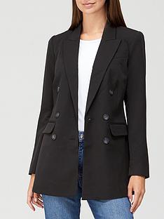 v-by-very-the-longline-double-breasted-blazer-black