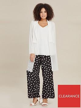 evans-spot-print-wide-leg-trouser