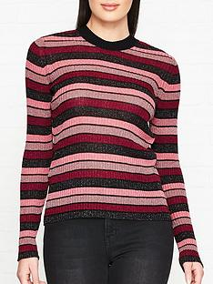 mcq-alexander-mcqueen-metallic-stripe-top--nbsppinkred