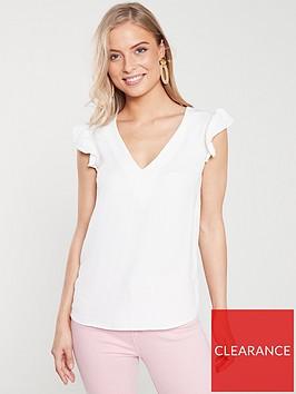v-by-very-frill-sleeve-blouse-ivory