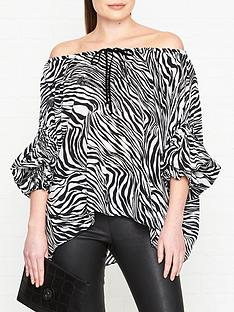 mcq-alexander-mcqueen-zebra-print-silk-blouse-blackwhite