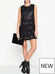 mcq-alexander-mcqueen-embellished-shift-mini-dress-black