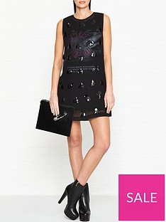 mcq-alexander-mcqueen-embellished-shift-mini-dress-black