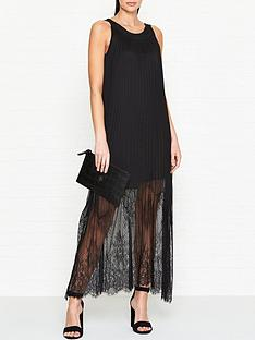 mcq-alexander-mcqueen-fluid-pleated-lace-maxi-dress-black