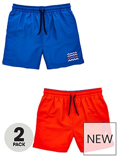 abec1e4bd8 V by Very Boys 2 Pack Swim Shorts - Blue/Red