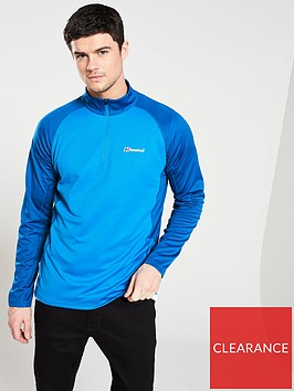 berghaus-tech-long-sleeve-zip-top-bluenbsp