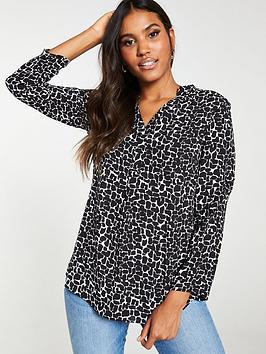 v-by-very-notch-neck-blouse-print