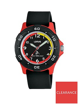 lorus-lorus-novak-foundation-100m-water-resistant-black-red-and-yellow-dial-black-silicone-strap-kids-watch
