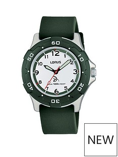 lorus-lorus-novak-foundation-100m-water-resistant-white-and-green-dial-green-silicone-strap-kids-watch